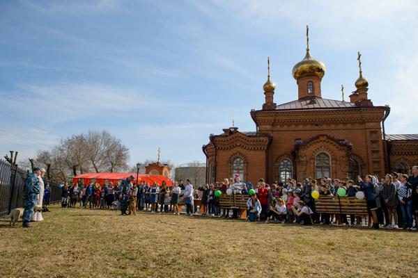 Кинологи УФСИН России по Амурской области приняли участие в проведении пасхального праздника