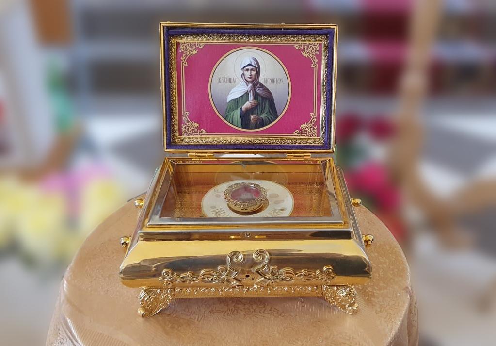 В исправительную колонию № 3 привезли частицу мощей святой Матроны Московской