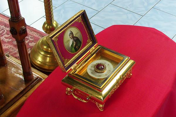 В ИК-2 помолились перед мощами святой Матроны Московской